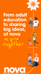 Adult education at Nova Poster welcome to a better world